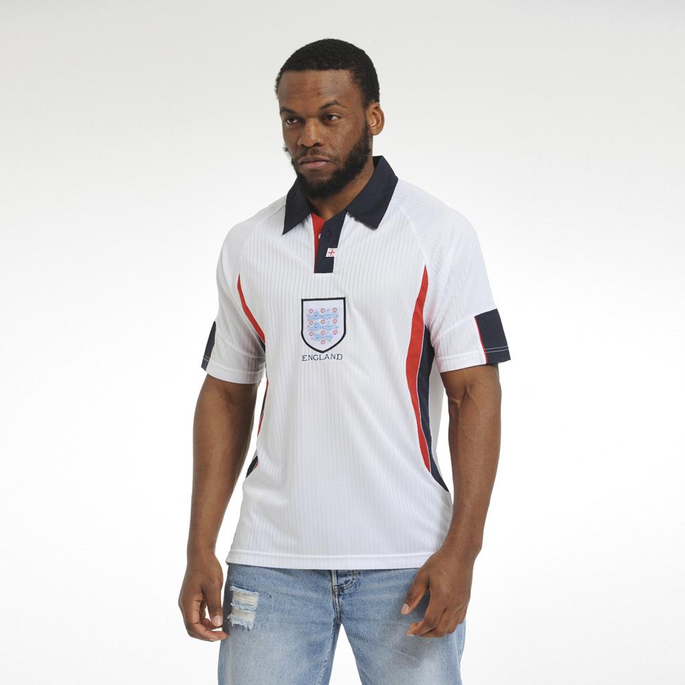 England 1998 World Cup Finals Retro Football Shirt Medium Polyester