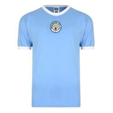 Manchester City 1972 No8 Retro Football Shirt