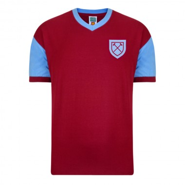 West Ham United 1958 No6 Retro Football Shirt