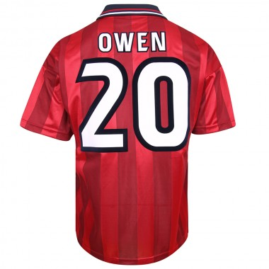England 1998 Away World Cup Finals No20 Owen