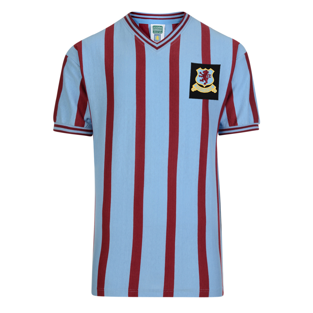 fbe4dd5e0e5 Aston Villa 1957 FA Cup Final Retro Football Shirt