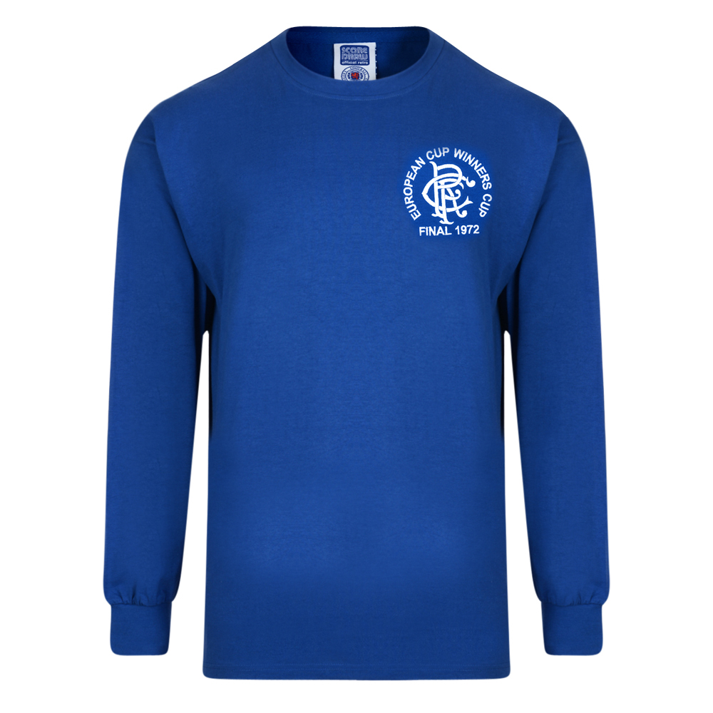 Rangers 1972 European Cup Winners Cup Retro Shirt