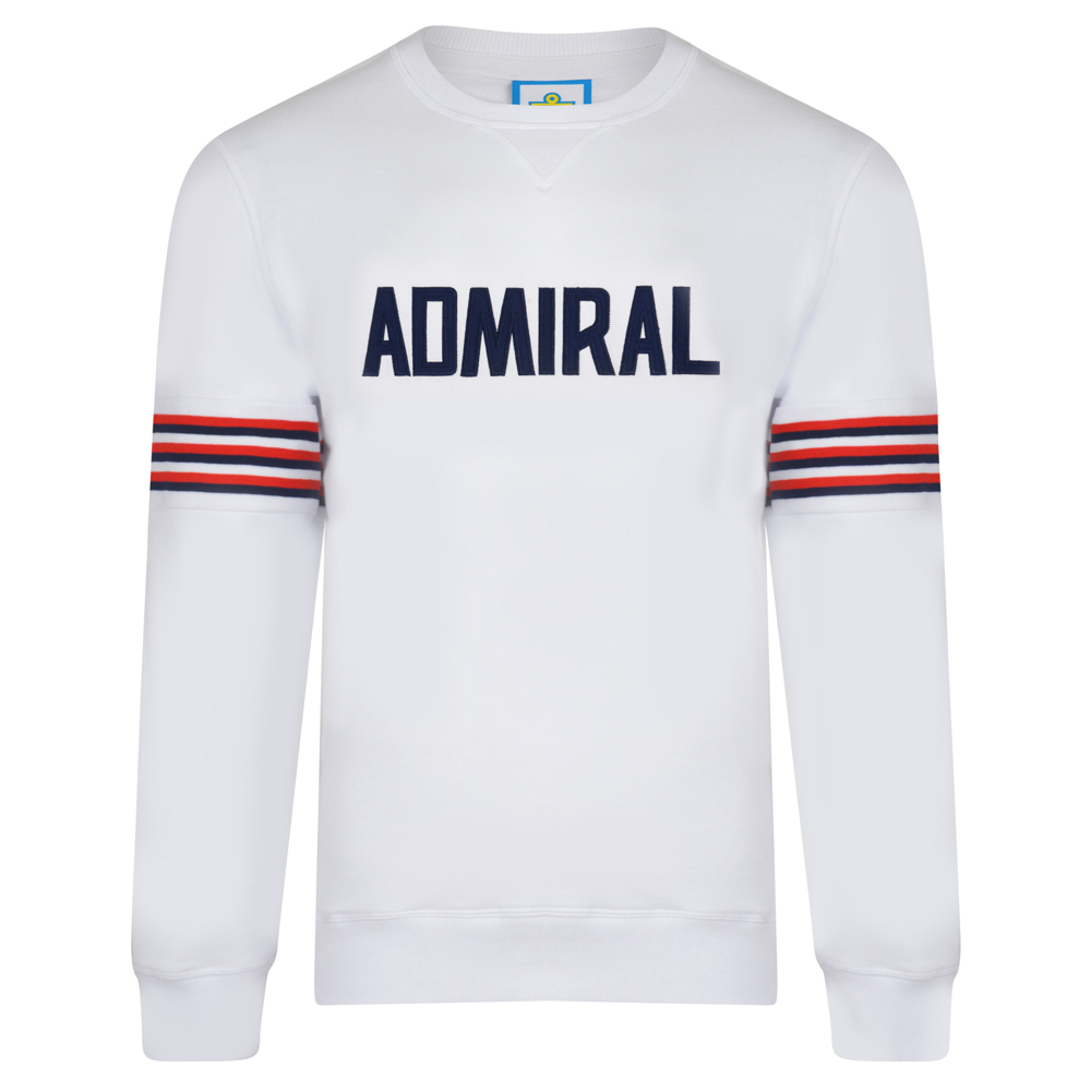 35174e4c9 Admiral 1974 White England Sweatshirt – MatchDay Memories Football Shirts