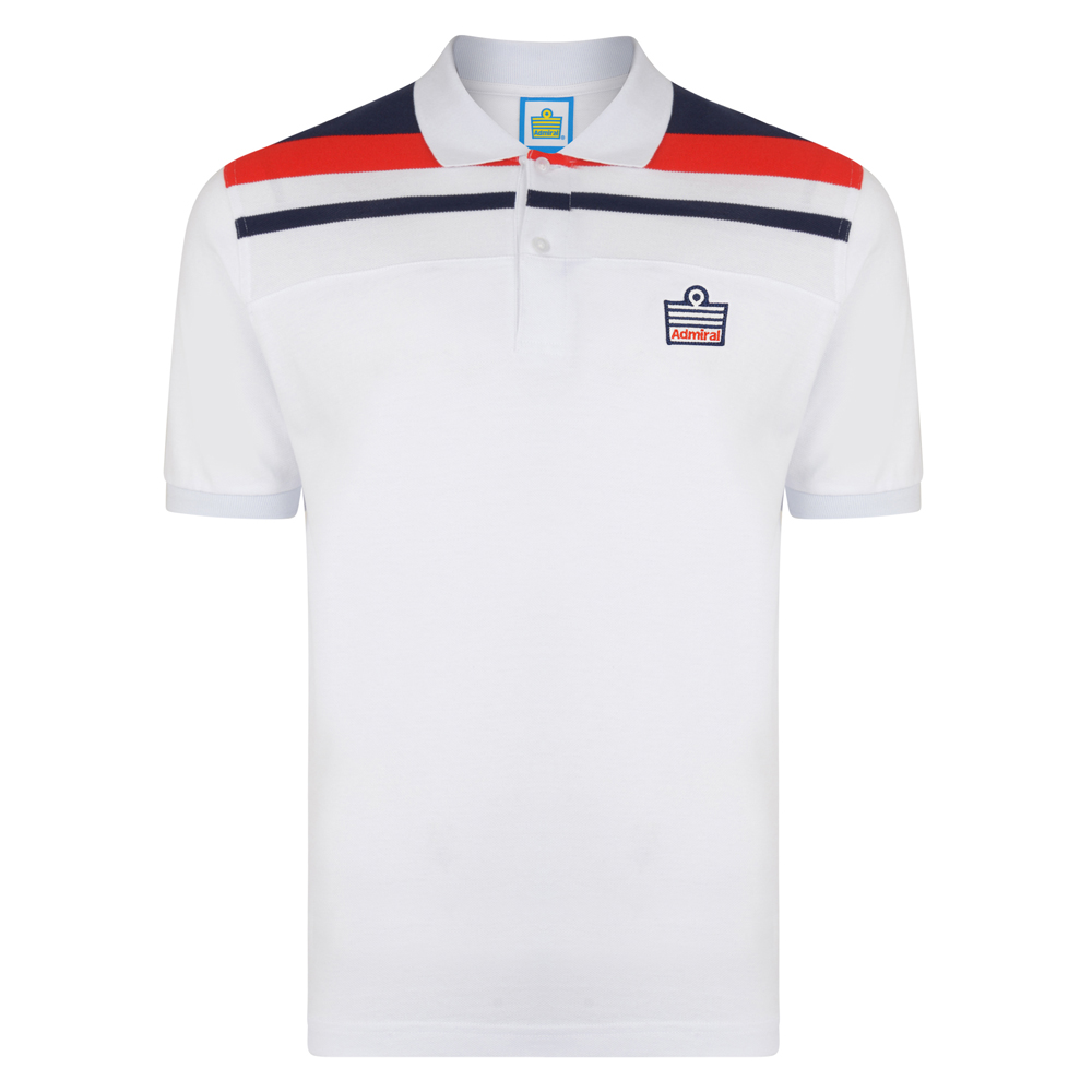 Admiral 1982 White England Club Polo