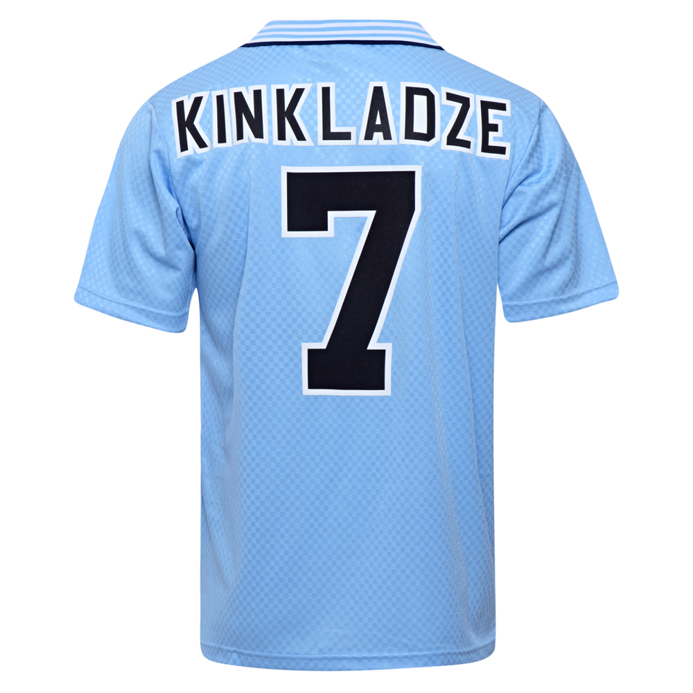 Manchester City 1996 No7 Kinkladze Football Shirt