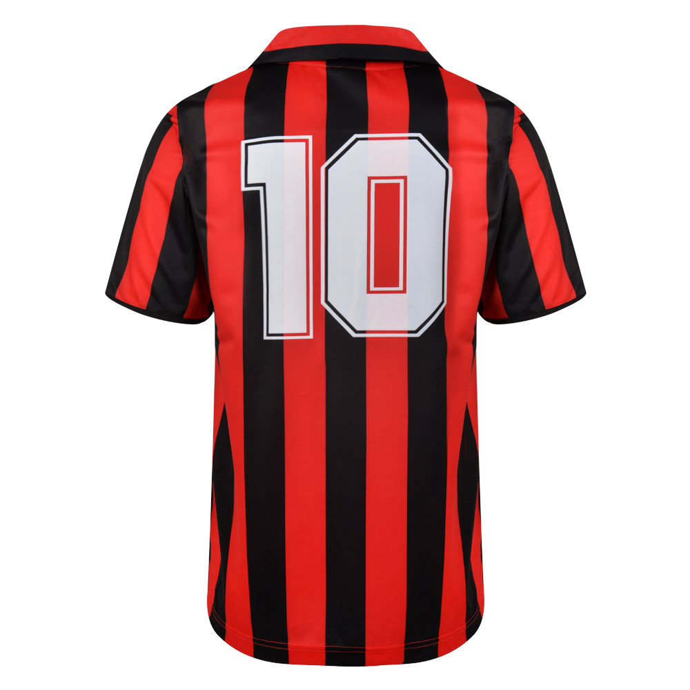 AC Milan 1988 No10 Retro Football Shirt