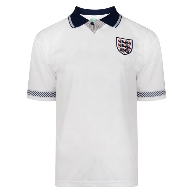 England 1990 World Cup Finals Retro Football Shirt