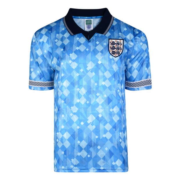 England 1990 World Cup Boys Retro Third Shirt