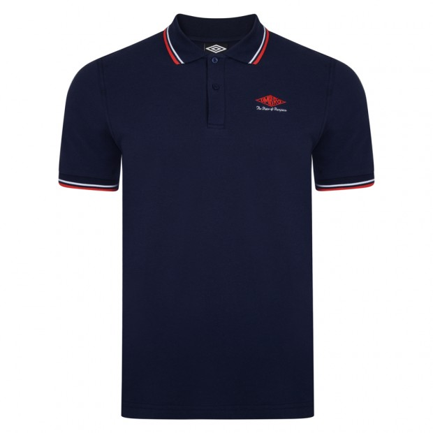 Umbro Choice of Champions Navy England Polo Shirt