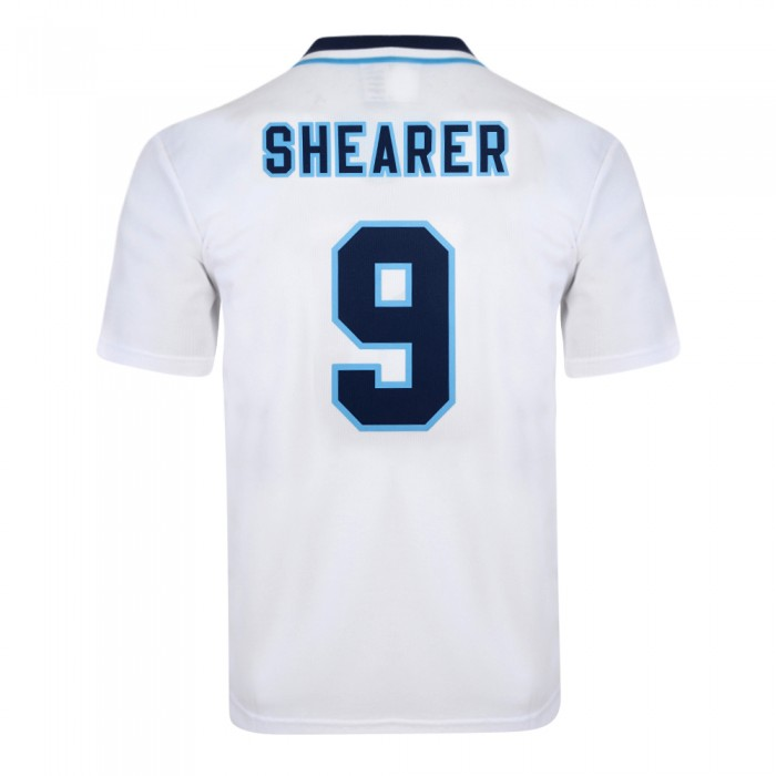 England 1996 Euro No9 Shearer Retro Shirt