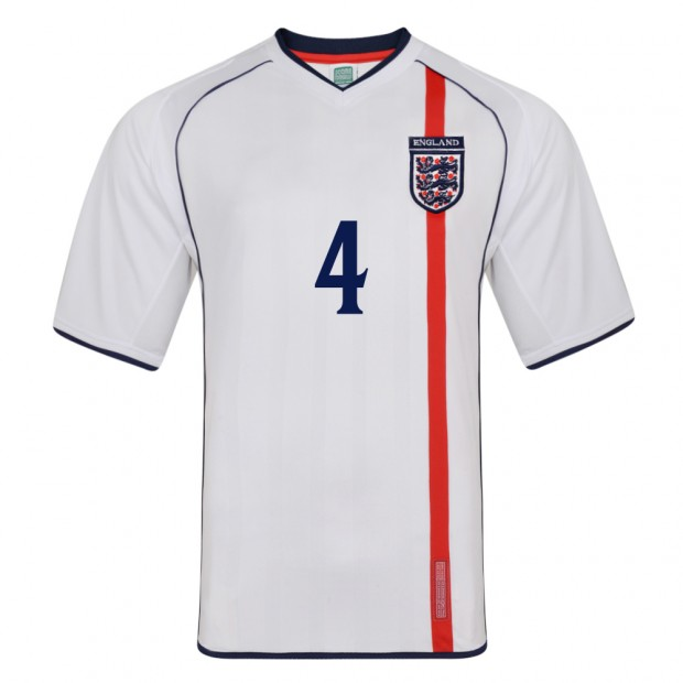 England 2002 No 4 Retro Football shirt