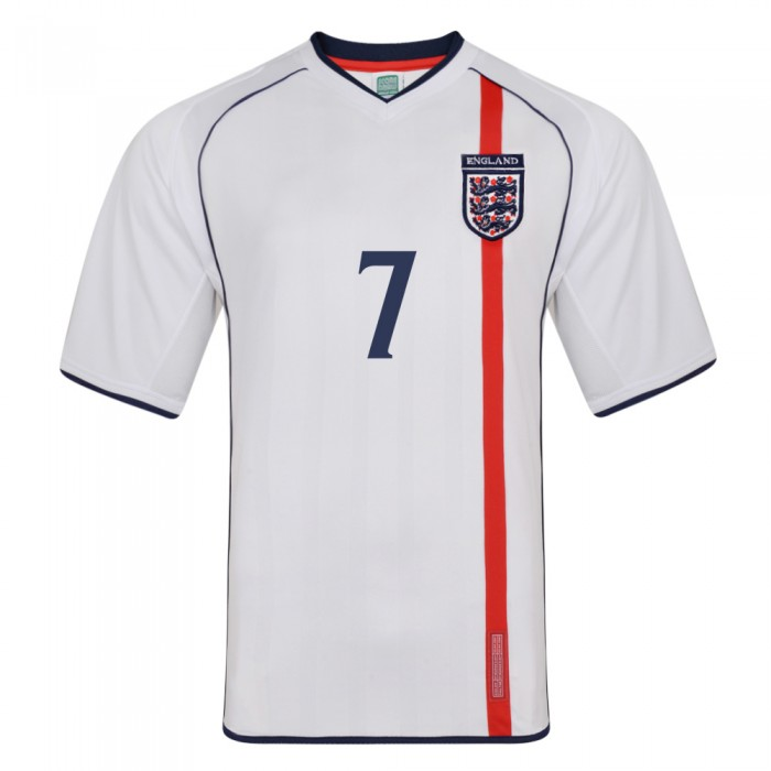 England 2002 No 7 Retro Football shirt
