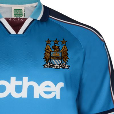 new styles 5108b 96f36 Manchester City 1998 Polyester Retro Shirt