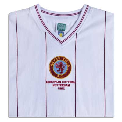 Aston Villa 1982 Euro Final Retro Football Shirt