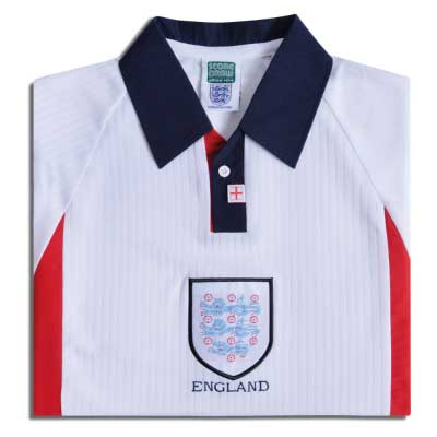 England 1998 World Cup Finals Retro Football Shirt