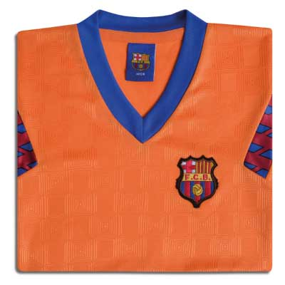 Barcelona 1992 European Cup Final No.4 Retro Shirt