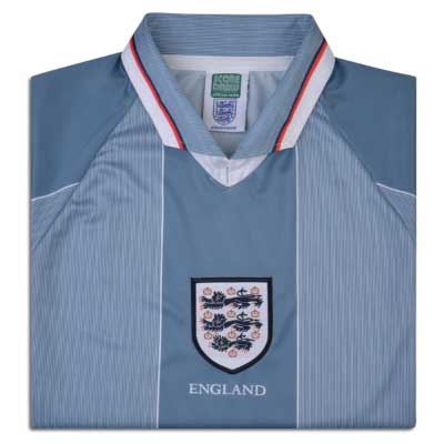 England 1996 Away No.9 Euro Championship Shirt