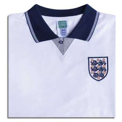 England 1990 World Cup Finals No19 Retro Shirt