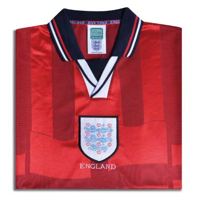 England 1998 Away World Cup Finals No7 Beckham